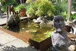 Teich aus Cortenstahl