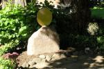 Grabstein mit Sonne