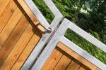 Gartenpforte mit Holzelementen
